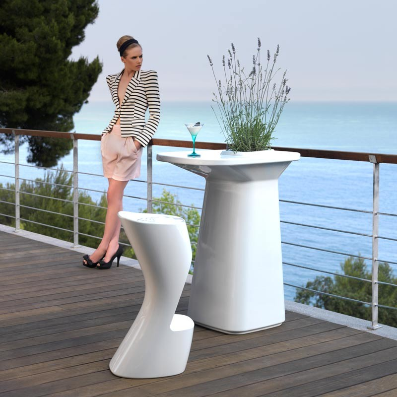 Scaun de bar exterior / interior design modern premium MOMA BAR STOOL 45038A Vondom, Magazin,  a