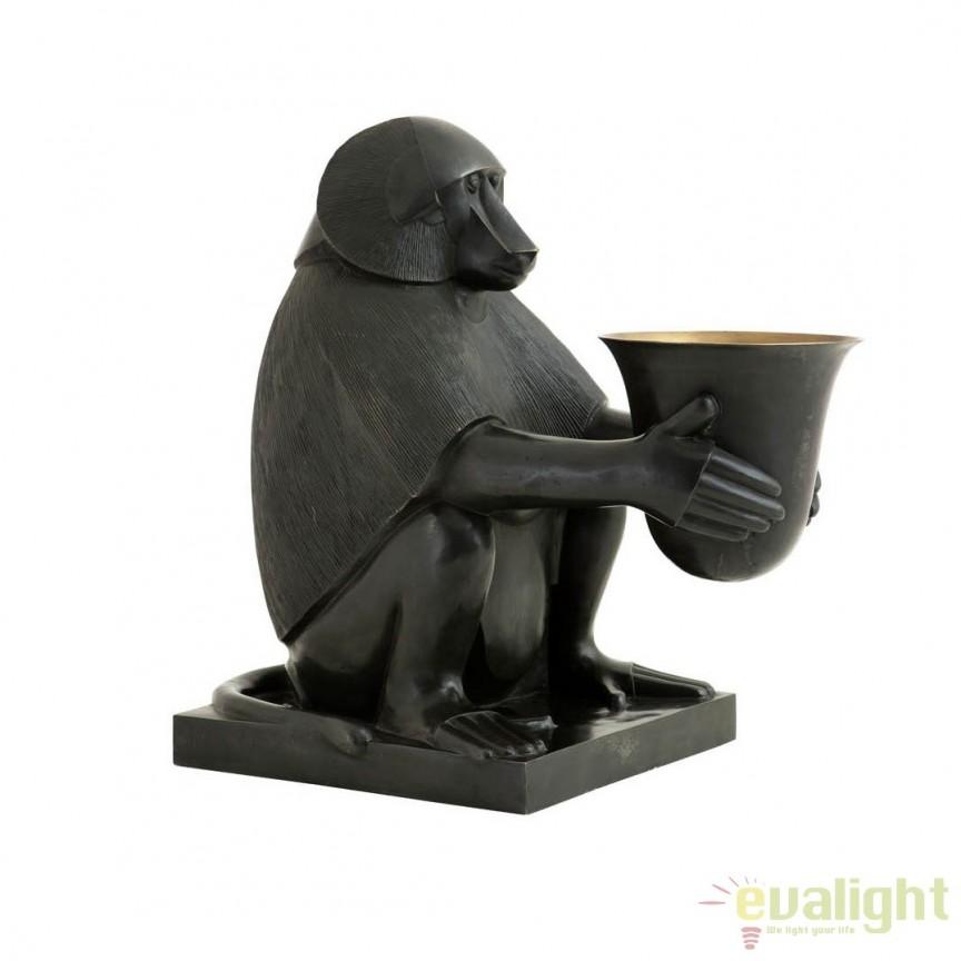 Lampa de masa LUX, statueta decorativa din bronz, Art Deco Monkey 106931 HZ, Statuete, Figurine decorative, Corpuri de iluminat, lustre, aplice, veioze, lampadare, plafoniere. Mobilier si decoratiuni, oglinzi, scaune, fotolii. Oferte speciale iluminat interior si exterior. Livram in toata tara.  a