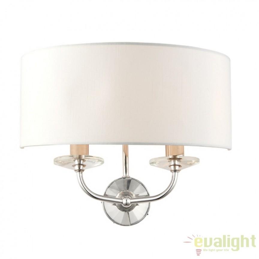 Aplica de perete eleganta doua brate eleganta Nixon 60180 EN, Aplice de perete moderne, Corpuri de iluminat, lustre, aplice a