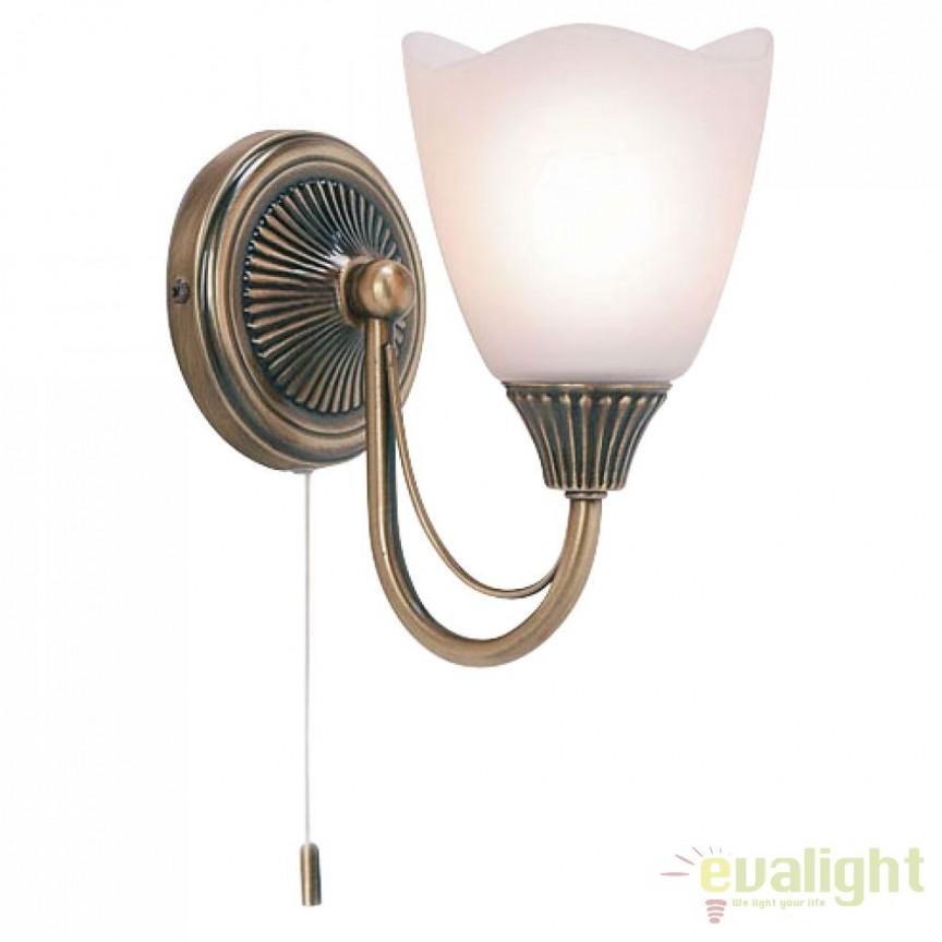Aplica de perete clasica cu 1 brat Haughton 601-1AN EN, Aplice de perete clasice, Corpuri de iluminat, lustre, aplice a