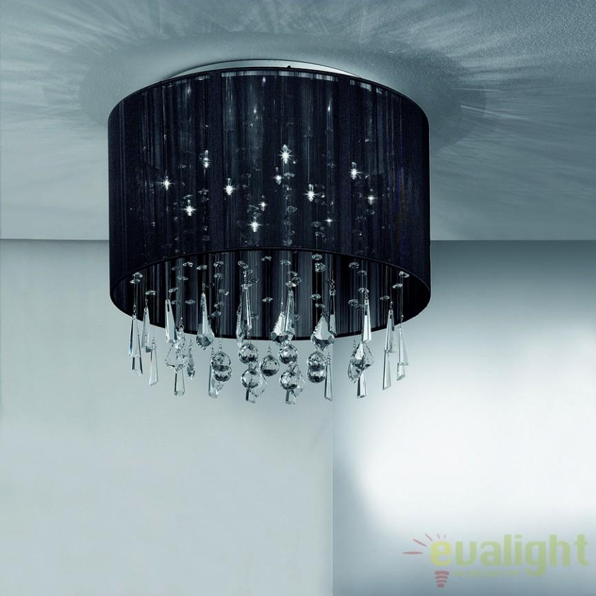 Plafonier elegant cu cristale Camille DL7OR52 schwarz, Lustre aplicate, Plafoniere clasice, Corpuri de iluminat, lustre, aplice a