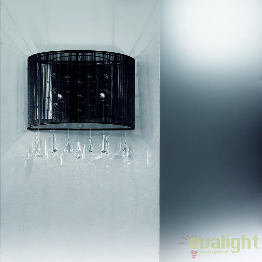 Aplica de perete cu cristale Camille WA2OR52 Schwarz, Aplice de perete clasice, Corpuri de iluminat, lustre, aplice a