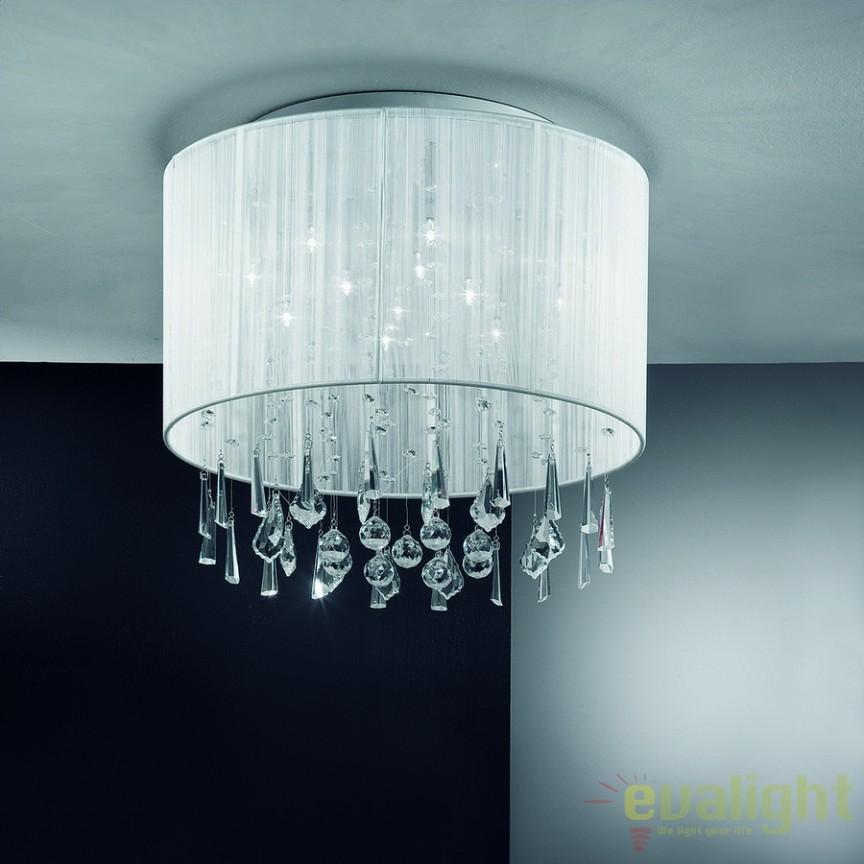 Plafonier elegant cu cristale Camille DL7OR53 Weiß, Lustre aplicate, Plafoniere clasice, Corpuri de iluminat, lustre, aplice a