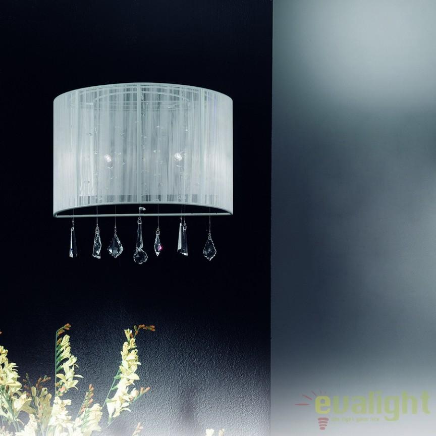 Aplica de perete eleganta cu cristale Camille WA2OR53 Weiß, Aplice de perete clasice, Corpuri de iluminat, lustre, aplice a