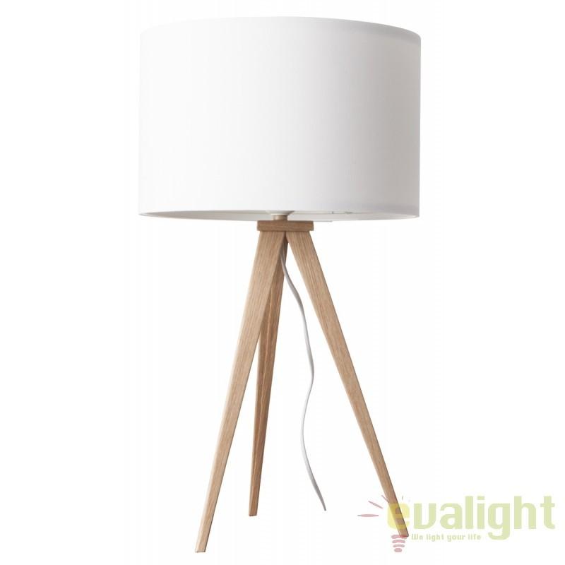 Veioza, lampa de masa cu trepied TRIPOD WOOD 5200009 ZV, Outlet,  a