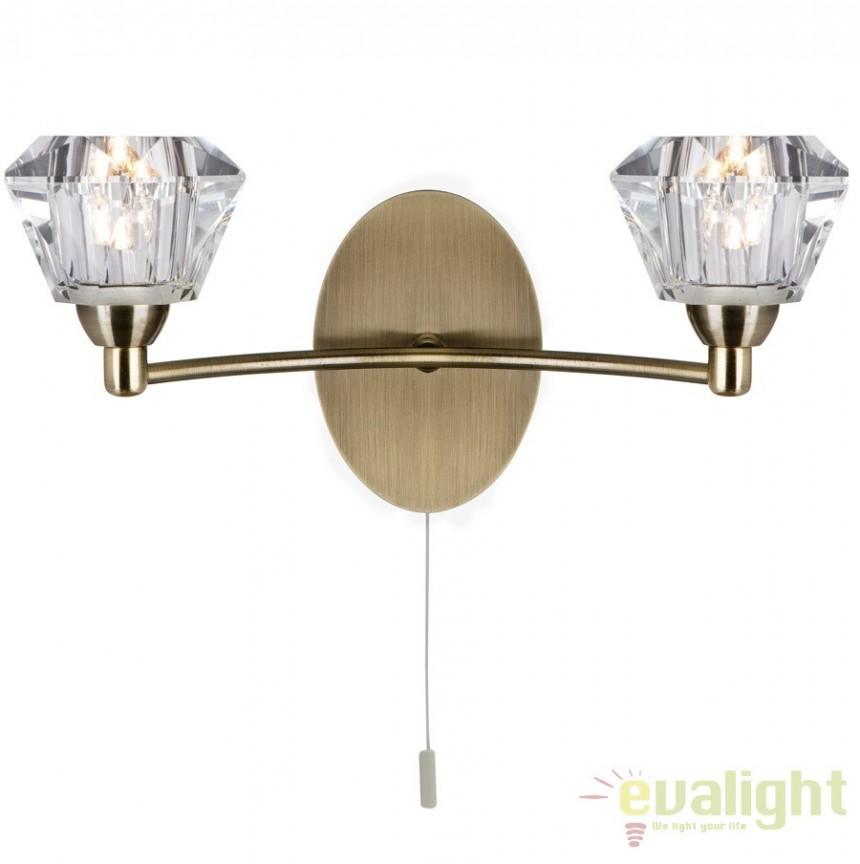 Aplica de perete cu 2 brate SIERRA 2632-2AB SRT, Aplice de perete clasice, Corpuri de iluminat, lustre, aplice a