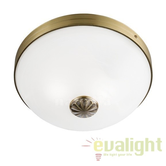 Plafoniera Clasica Diametru 30cm WINDSOR 5772-2AB SRT, Lustre aplicate, Plafoniere clasice, Corpuri de iluminat, lustre, aplice a