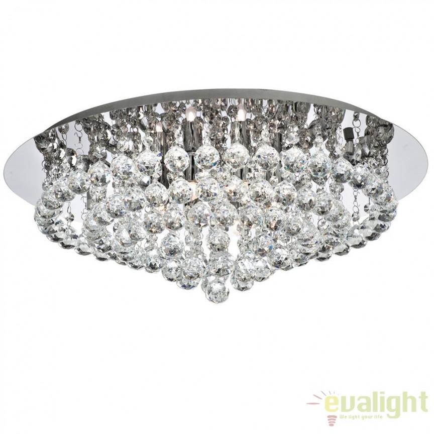 Plafoniera Clasica Diametru 55cm HANNA 3408-8CC SRT, Lustre aplicate, Plafoniere clasice, Corpuri de iluminat, lustre, aplice a