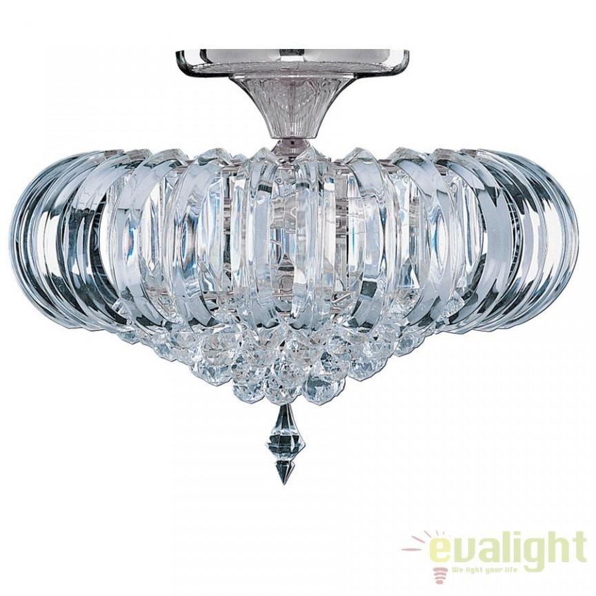 Plafoniera Clasica Diametru 54cm SIGMA 50004CC SRT, Lustre aplicate, Plafoniere clasice, Corpuri de iluminat, lustre, aplice a