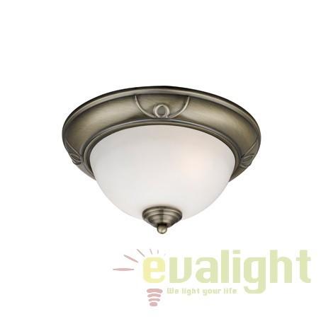 Plafoniera clasica diametru 28cm FLUSH 2139-28AB SRT, Lustre aplicate, Plafoniere clasice, Corpuri de iluminat, lustre, aplice a