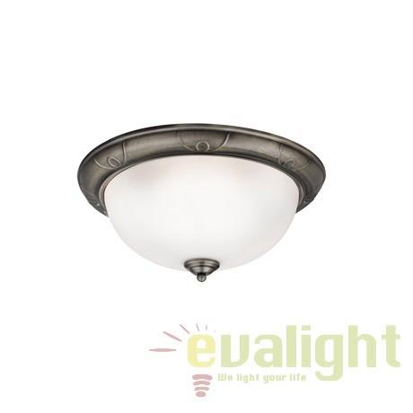 Plafoniera clasica diametru 38cm FLUSH 2139-38AB SRT, Lustre aplicate, Plafoniere clasice, Corpuri de iluminat, lustre, aplice a