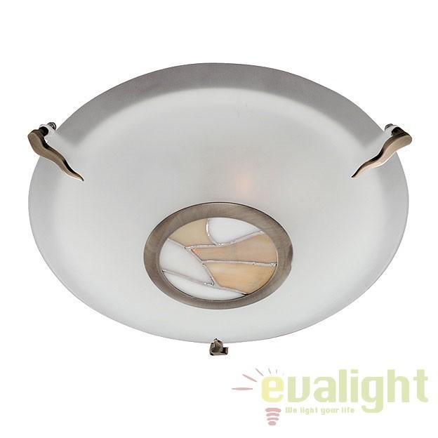 Plafoniera clasica diametru 30cm TIFFANY 36095AM SRT, Lustre aplicate, Plafoniere clasice, Corpuri de iluminat, lustre, aplice a
