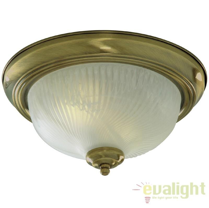Plafoniera clasica diametru 29cm FLUSH 7622-11AB SRT, Lustre aplicate, Plafoniere clasice, Corpuri de iluminat, lustre, aplice a