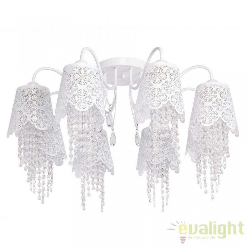 Lustra diametru 76cm White Angel Crystal 472010508, Magazin, Corpuri de iluminat, lustre, aplice, veioze, lampadare, plafoniere. Mobilier si decoratiuni, oglinzi, scaune, fotolii. Oferte speciale iluminat interior si exterior. Livram in toata tara.  a