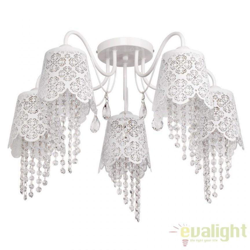 Lustra diametru 64cm White Angel Crystal 472010405, Magazin, Corpuri de iluminat, lustre, aplice, veioze, lampadare, plafoniere. Mobilier si decoratiuni, oglinzi, scaune, fotolii. Oferte speciale iluminat interior si exterior. Livram in toata tara.  a