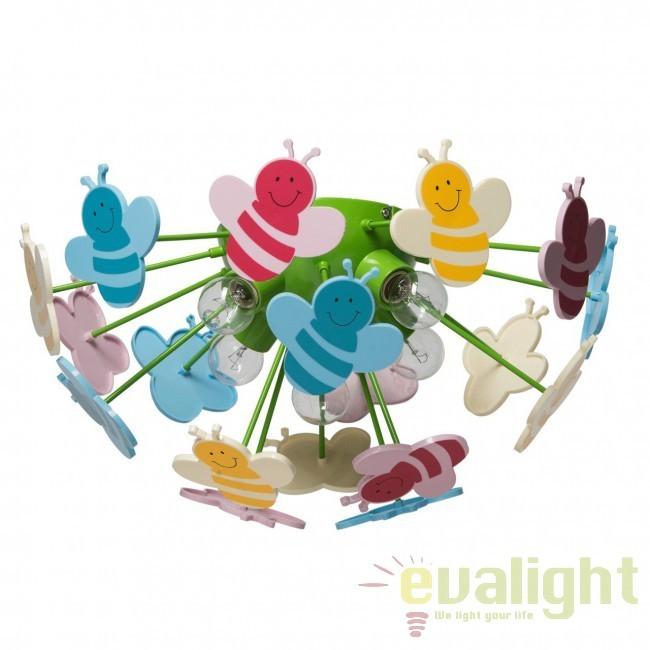 Plafonier pentru copii BEE Kinder 365015105 MW, Magazin, Corpuri de iluminat, lustre, aplice, veioze, lampadare, plafoniere. Mobilier si decoratiuni, oglinzi, scaune, fotolii. Oferte speciale iluminat interior si exterior. Livram in toata tara.  a