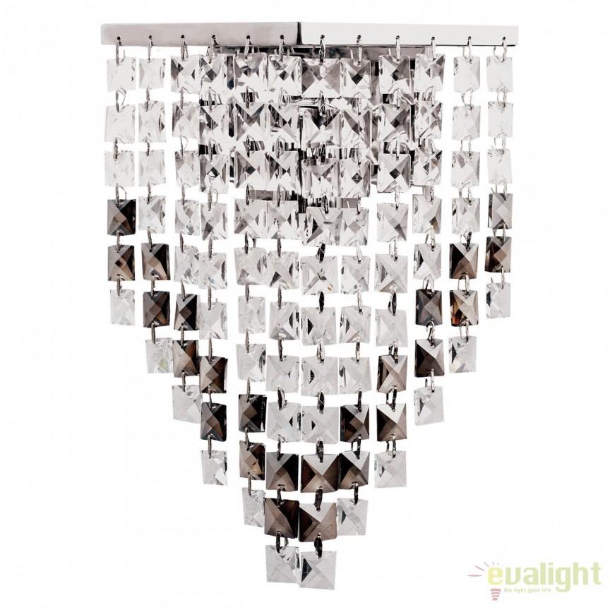 Aplica de perete cu cristale Briz 464021901, Magazin, Corpuri de iluminat, lustre, aplice, veioze, lampadare, plafoniere. Mobilier si decoratiuni, oglinzi, scaune, fotolii. Oferte speciale iluminat interior si exterior. Livram in toata tara.  a