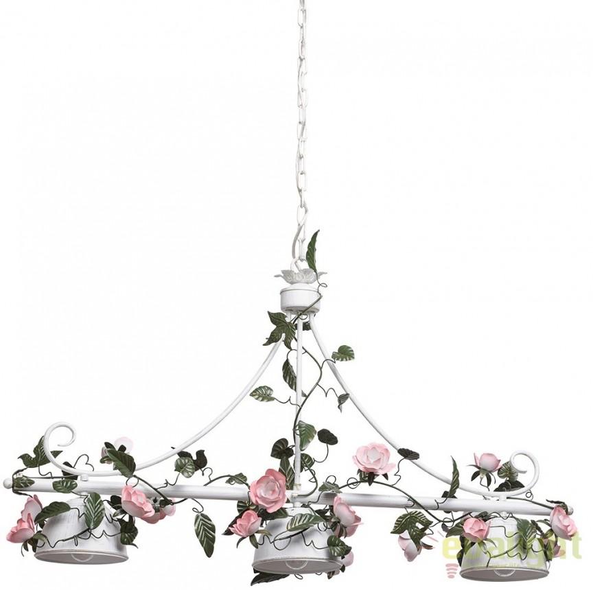 Lustra, Pendul elegant, romantic L-100cm, Roses Flora 421014203, Magazin, Corpuri de iluminat, lustre, aplice, veioze, lampadare, plafoniere. Mobilier si decoratiuni, oglinzi, scaune, fotolii. Oferte speciale iluminat interior si exterior. Livram in toata tara.  a