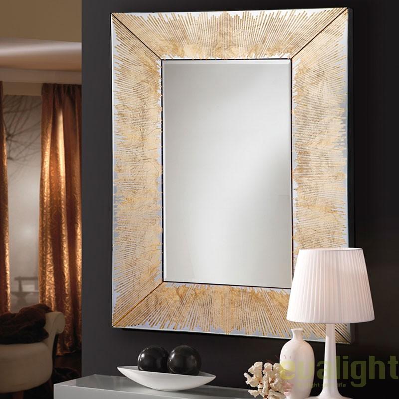 Oglinda decorativa 120x80cm AURORA 569106, Oglinzi decorative moderne✅ decoratiuni de perete cu oglinda⭐ modele mari si rotunde pentru Hol, Living, Dormitor si Baie.❤️Promotii la oglinzi cu design decorativ❗ Intra si vezi poze ✚ pret ➽ www.evalight.ro. ➽ sursa ta de inspiratie online❗ Alege oglinzi deosebite Art Deco de lux pentru decorare casa, fabricate de branduri renumite. Aici gasesti cele mai frumoase si rafinate obiecte de decor cu stil contemporan unicat, oglinzi elegante cu suport de prindere pe perete, de masa sau de podea potrivite pt dresing, cu rama din metal cu aspect antichizat sau lemn de culoare aurie, sticla argintie in diferite forme: oglinzi in forma de soare, hexagonale tip fagure hexagon, ovale, patrate mici, rectangulara sau dreptunghiulara, design original exclusivist: industrial style, retro, vintage (produse manual handmade), scandinav nordic, clasic, baroc, glamour, romantic, rustic, minimalist. Tendinte si idei actuale de designer pentru amenajari interioare premium Top 2020❗ Oferte si reduceri speciale cu vanzare rapida din stoc, oglinzi de calitate la cel mai bun pret. a