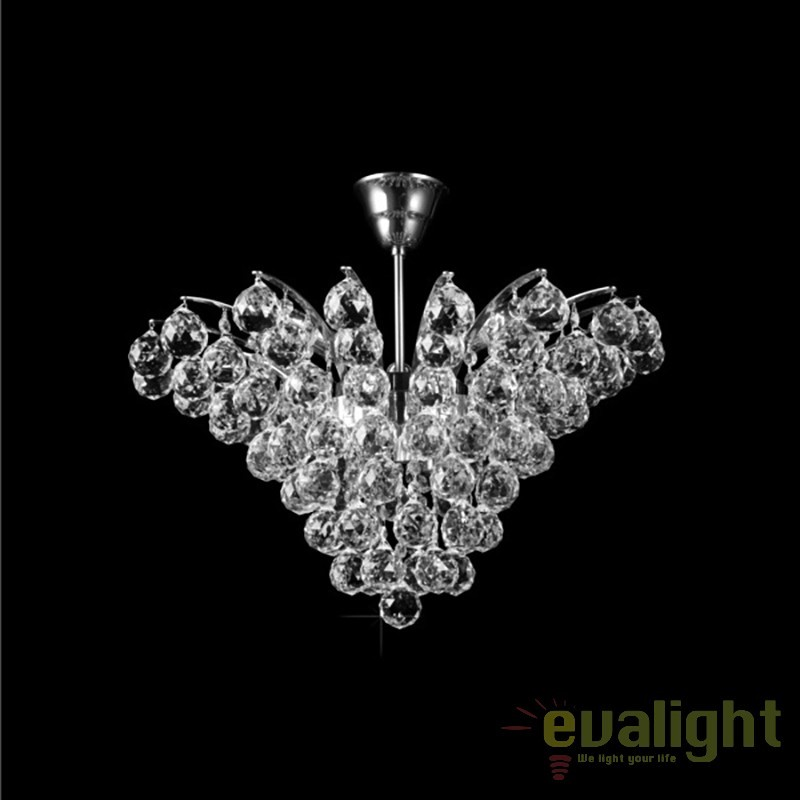Plafoniera cristal Bohemia diametru 54cm L15 555/06/4; Ni, Plafoniere Cristal Bohemia, Corpuri de iluminat, lustre, aplice, veioze, lampadare, plafoniere. Mobilier si decoratiuni, oglinzi, scaune, fotolii. Oferte speciale iluminat interior si exterior. Livram in toata tara.  a