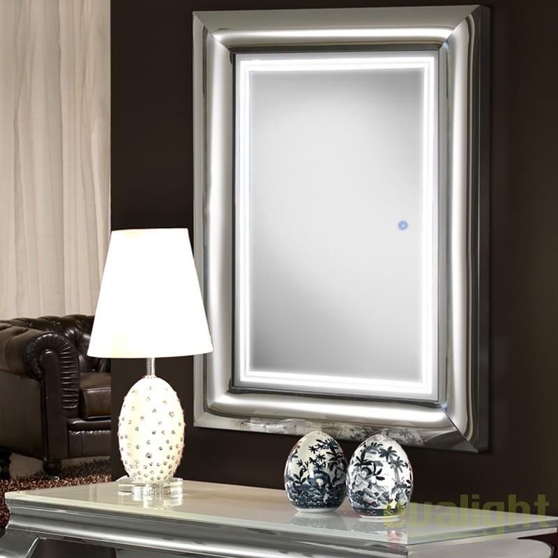 Oglinda decorativa cu iluminat LED 120x80cm BERLIN 474359, Oglinzi pentru baie, Corpuri de iluminat, lustre, aplice, veioze, lampadare, plafoniere. Mobilier si decoratiuni, oglinzi, scaune, fotolii. Oferte speciale iluminat interior si exterior. Livram in toata tara.  a