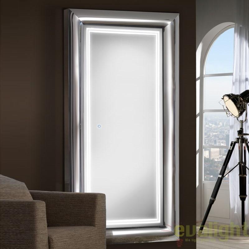 Oglinda decorativa cu iluminat LED 190x90cm BERLIN 474482, Oglinzi pentru baie, Corpuri de iluminat, lustre, aplice, veioze, lampadare, plafoniere. Mobilier si decoratiuni, oglinzi, scaune, fotolii. Oferte speciale iluminat interior si exterior. Livram in toata tara.  a