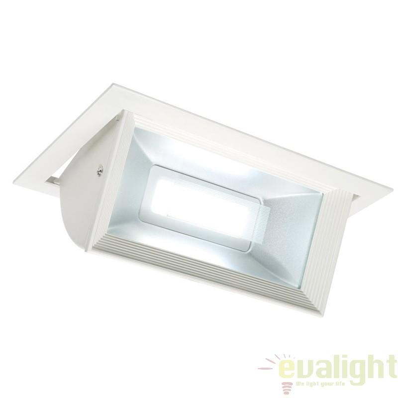 Spot incastrabil rectangular directionabil cu iluminat LED, Mendip 46394 EN , Spoturi LED incastrate, aplicate, Corpuri de iluminat, lustre, aplice a