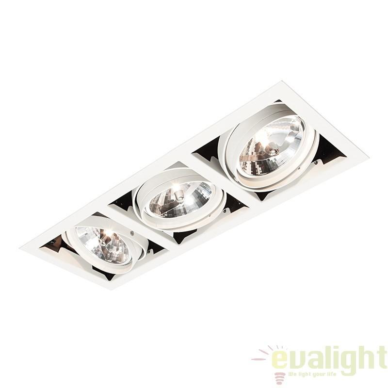 Corp iluminat incastrabil cu 3 spoturi directionabile, Box AR111 AR00302 EN, Spoturi LED incastrate, aplicate, Corpuri de iluminat, lustre, aplice a