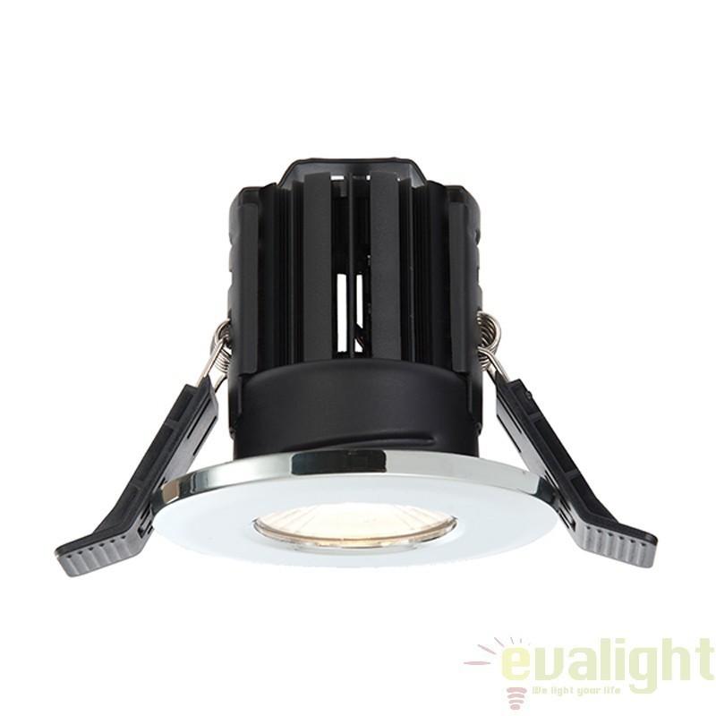 Spot incastrabil crom cu iluminat LED 8Watt alb cald, protectie IP65, ShieldLED 600 52009 EN, Spoturi LED incastrate, aplicate, Corpuri de iluminat, lustre, aplice a