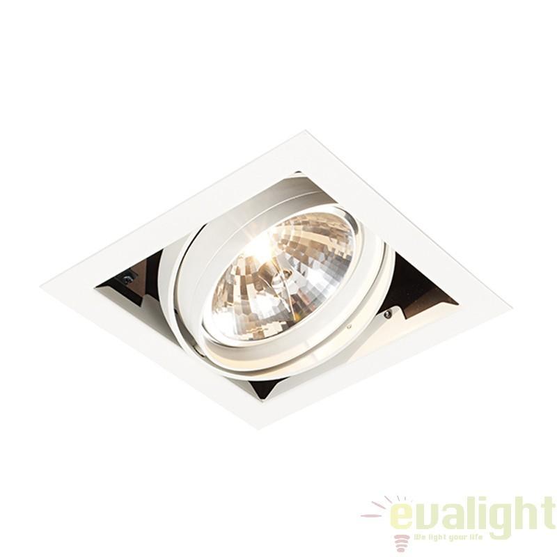Corp iluminat incastrabil cu 1 spot directionabil 50W, Box AR111 AR00102 EN, Spoturi incastrate, aplicate - tavan / perete, Corpuri de iluminat, lustre, aplice a