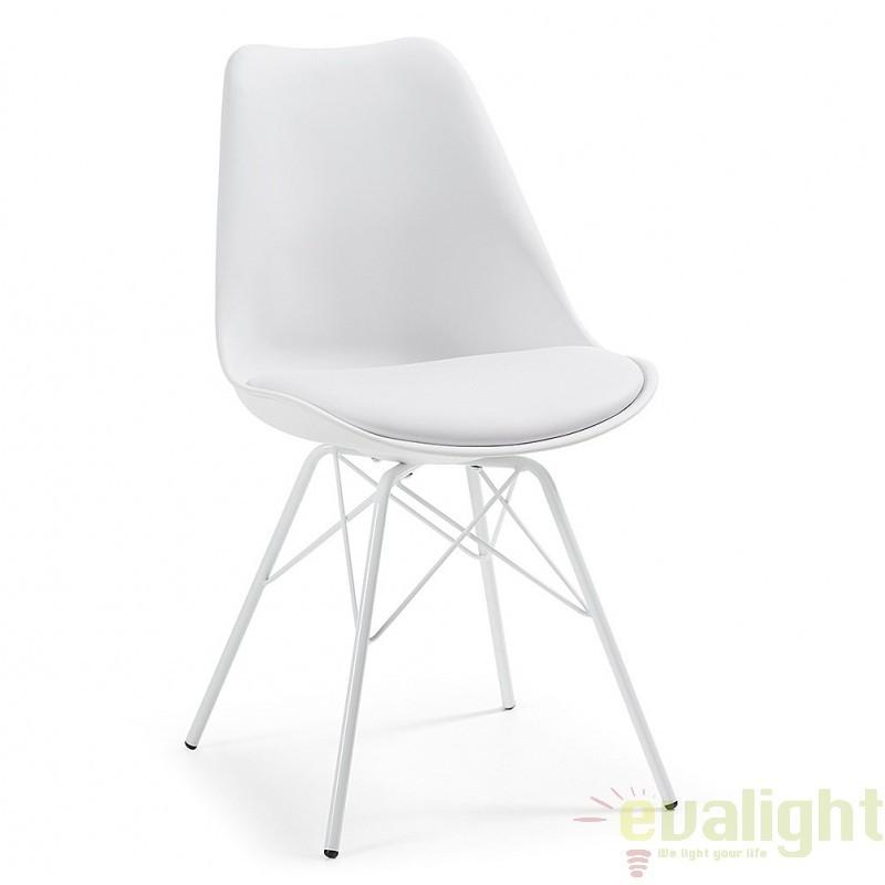 Scaun cu design modern minimalist LARS alb C768S05 JG, PROMOTII, Corpuri de iluminat, lustre, aplice, veioze, lampadare, plafoniere. Mobilier si decoratiuni, oglinzi, scaune, fotolii. Oferte speciale iluminat interior si exterior. Livram in toata tara.  a