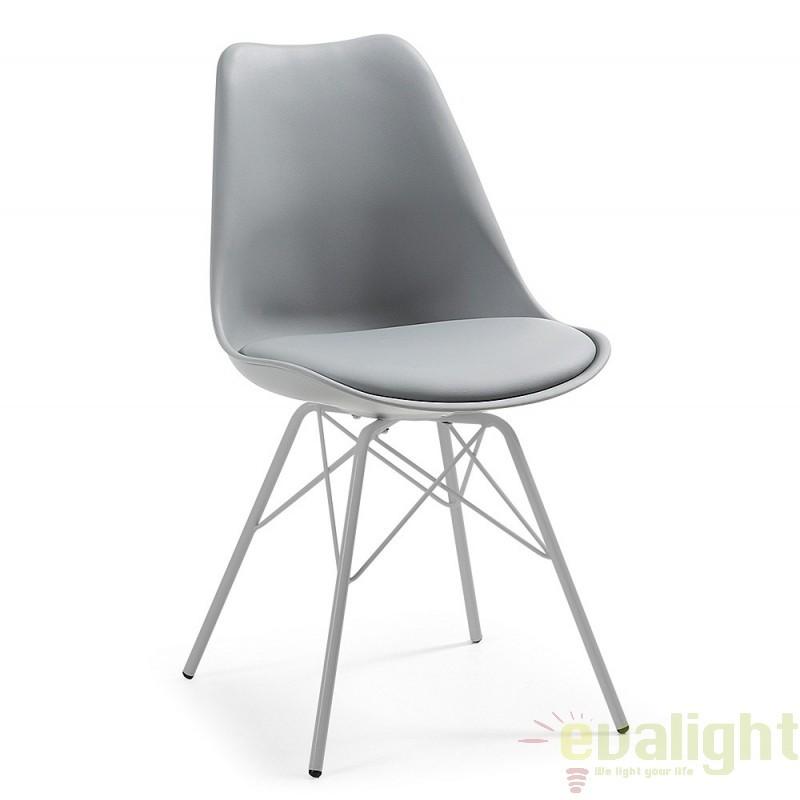 Scaun cu design modern minimalist LARS gri C768S03 JG, PROMOTII, Corpuri de iluminat, lustre, aplice, veioze, lampadare, plafoniere. Mobilier si decoratiuni, oglinzi, scaune, fotolii. Oferte speciale iluminat interior si exterior. Livram in toata tara.  a