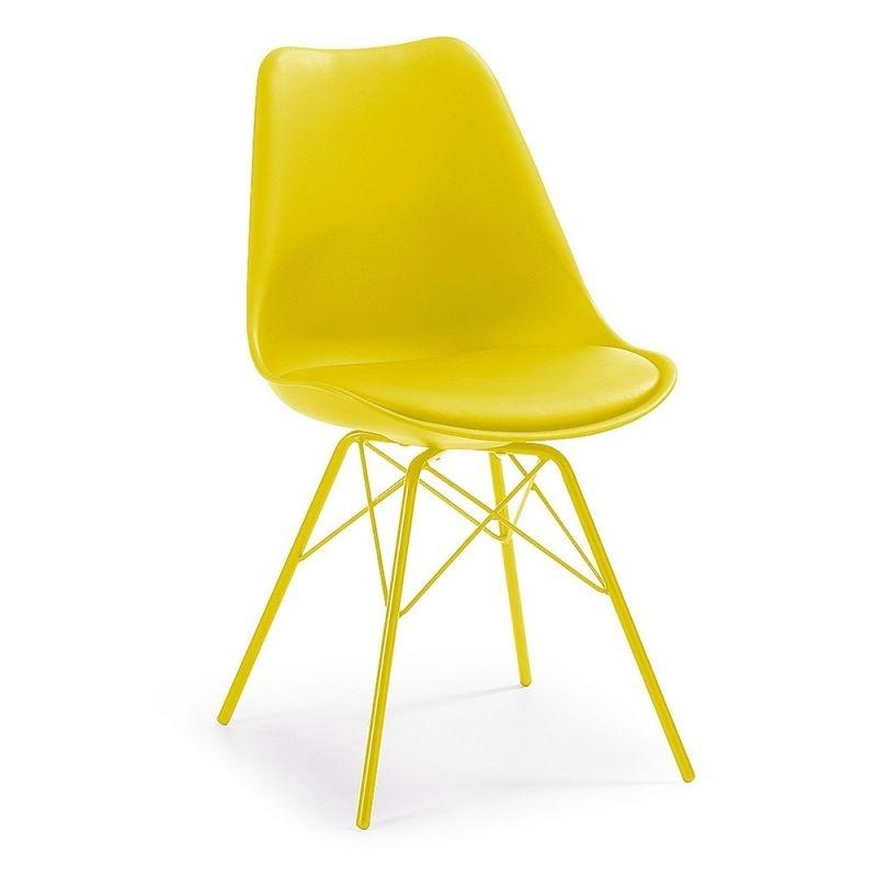 Scaun cu design modern minimalist LARS galben C768S31 JG, Mobila si Decoratiuni,  a