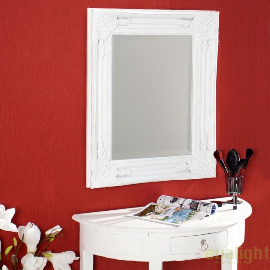 Oglinda decorativa in stil clasic Speculum alba A-35351 VC, PROMOTII, Corpuri de iluminat, lustre, aplice, veioze, lampadare, plafoniere. Mobilier si decoratiuni, oglinzi, scaune, fotolii. Oferte speciale iluminat interior si exterior. Livram in toata tara.  a