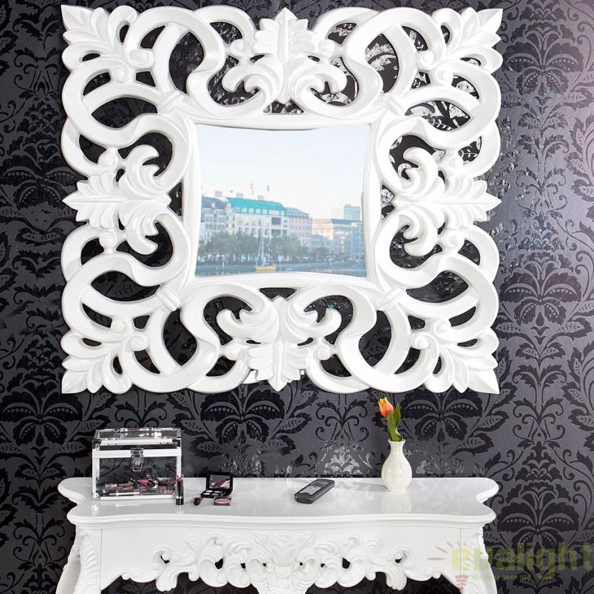 Oglinda decorativa eleganta design clasic Venice alba A-15628 VC, Oglinzi decorative , moderne✅ decoratiuni de perete cu oglinda⭐ modele mari si rotunde pentru Hol, Living, Dormitor si Baie.❤️Promotii la oglinzi cu design decorativ❗ Intra si vezi poze ✚ pret ➽ www.evalight.ro. ➽ sursa ta de inspiratie online❗ Alege oglinzi deosebite Art Deco de lux pentru decorare casa, fabricate de branduri renumite. Aici gasesti cele mai frumoase si rafinate obiecte de decor cu stil contemporan unicat, oglinzi elegante cu suport de prindere pe perete, de masa sau de podea potrivite pt dresing, cu rama din metal cu aspect antichizat sau lemn de culoare aurie, sticla argintie in diferite forme: oglinzi in forma de soare, hexagonale tip fagure hexagon, ovale, patrate mici, rectangulara sau dreptunghiulara, design original exclusivist: industrial style, retro, vintage (produse manual handmade), scandinav nordic, clasic, baroc, glamour, romantic, rustic, minimalist. Tendinte si idei actuale de designer pentru amenajari interioare premium Top 2020❗ Oferte si reduceri speciale cu vanzare rapida din stoc, oglinzi de calitate la cel mai bun pret. a