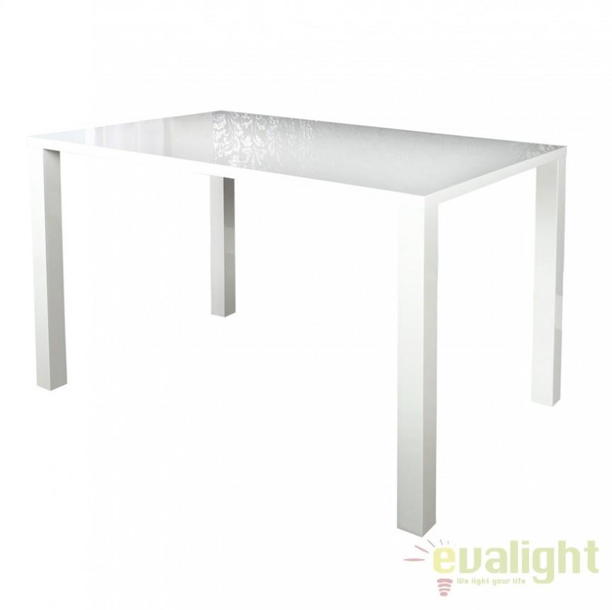 Masa moderna alba, simpla si eleganta, Lucente II 120cm A-22928 VC, Mese dining, Corpuri de iluminat, lustre, aplice a