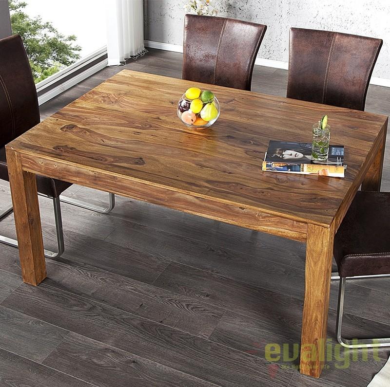 Masa dining din lemn de trandafir Lagos 140cm A-20601 VC, Mese dining, Corpuri de iluminat, lustre, aplice a