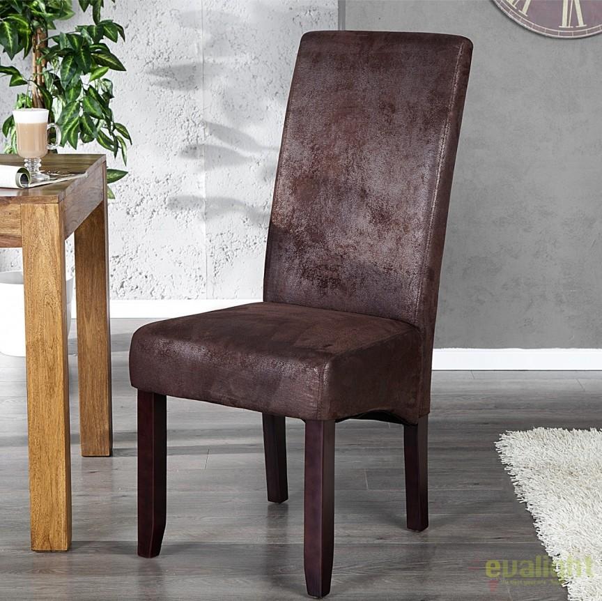 Set de 2 scaune design clasic Valentino cafeniu A-20251 VC, PROMOTII, Corpuri de iluminat, lustre, aplice, veioze, lampadare, plafoniere. Mobilier si decoratiuni, oglinzi, scaune, fotolii. Oferte speciale iluminat interior si exterior. Livram in toata tara.  a