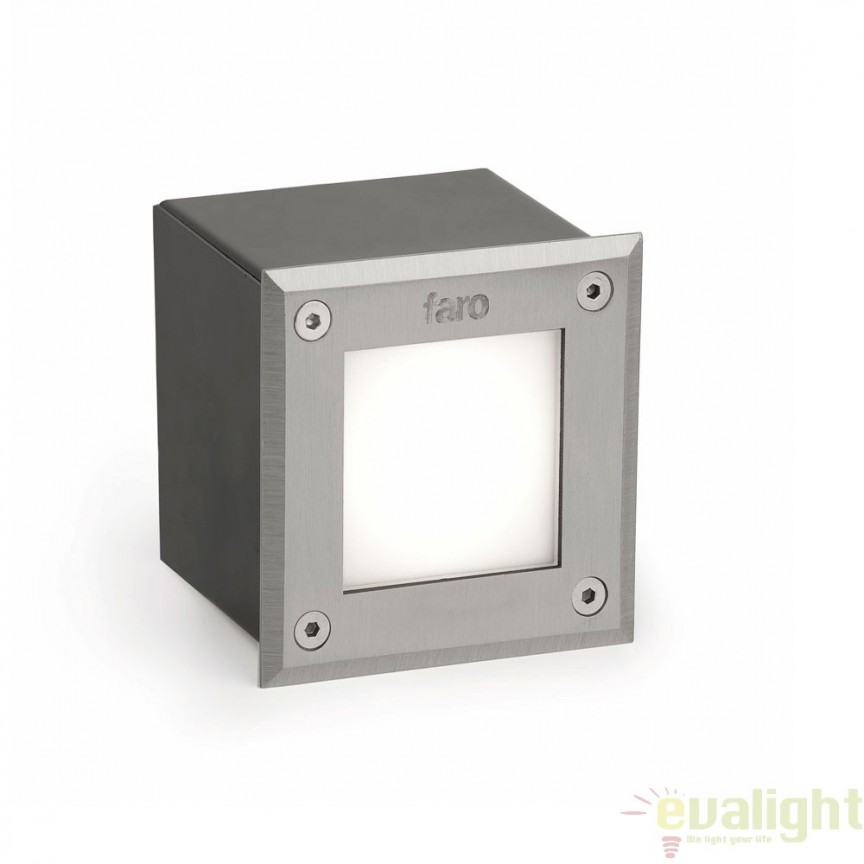 SPOT LED INCASTRABIL DE EXTERIOR Inox PATRAT 71499N Faro Barcelona , Iluminat exterior incastrabil , Corpuri de iluminat, lustre, aplice a