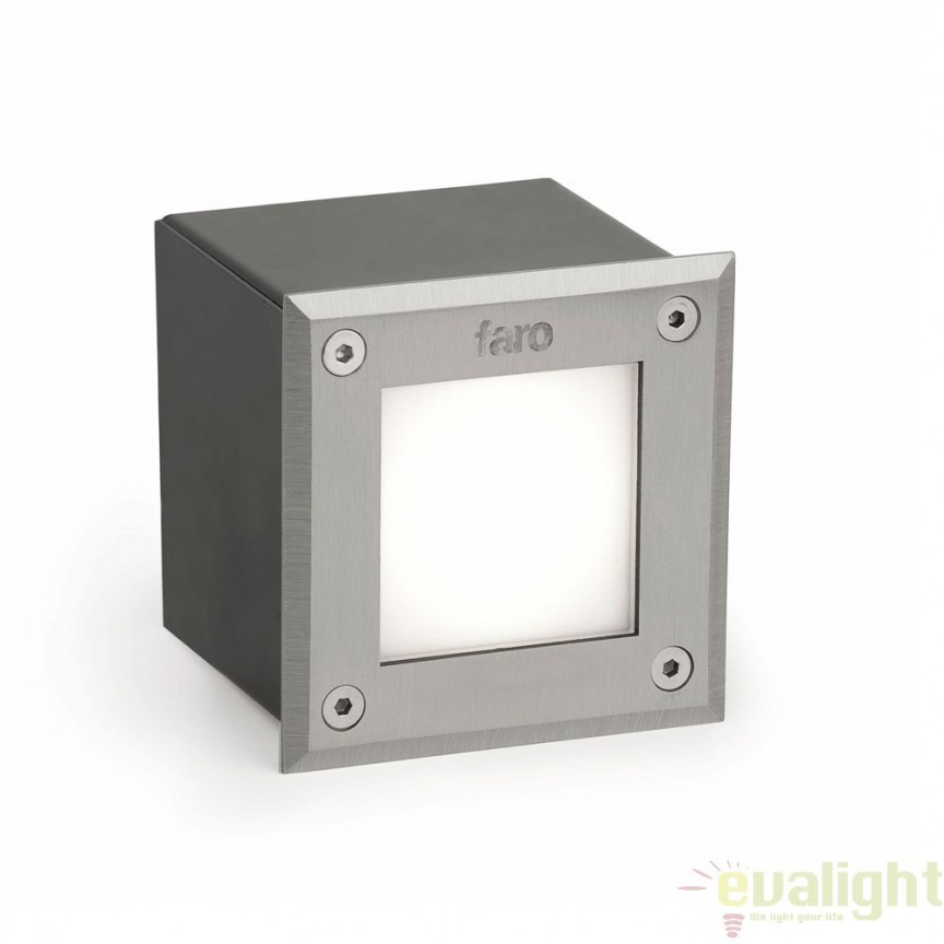 SPOT LED INCASTRABIL DE EXTERIOR Inox PATRAT 71497N Faro Barcelona, Iluminat exterior incastrabil , Corpuri de iluminat, lustre, aplice a