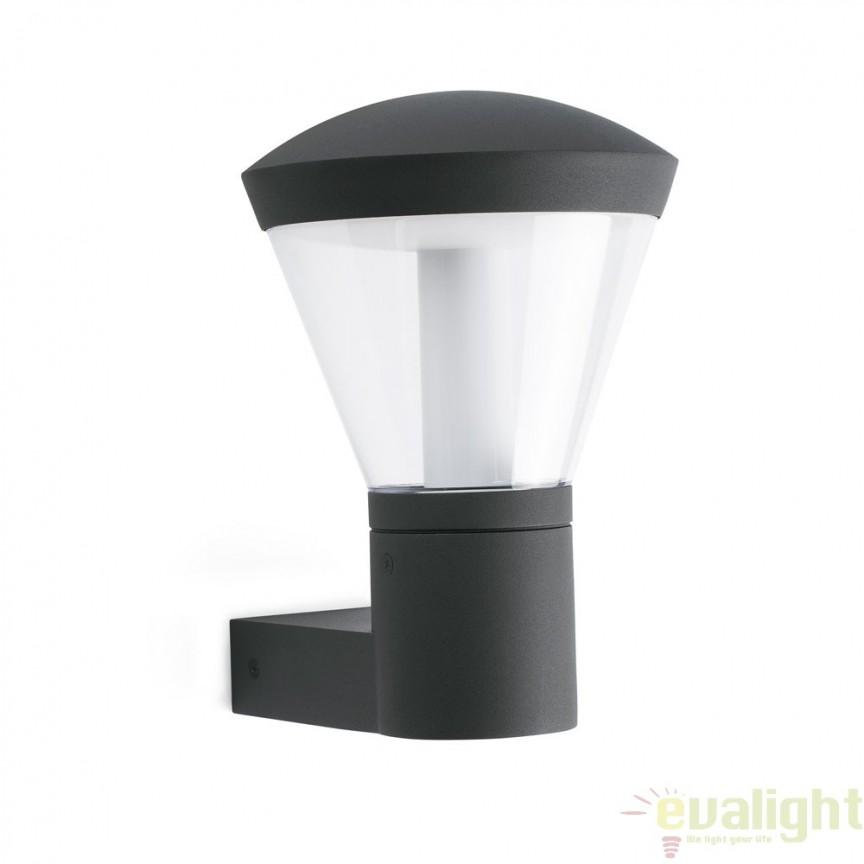APLICA DE PERETE LED EXTERIOR DESIGN MODERN SHELBY 75536 Faro Barcelona , Stalpi de iluminat exterior mici si medii , Corpuri de iluminat, lustre, aplice a