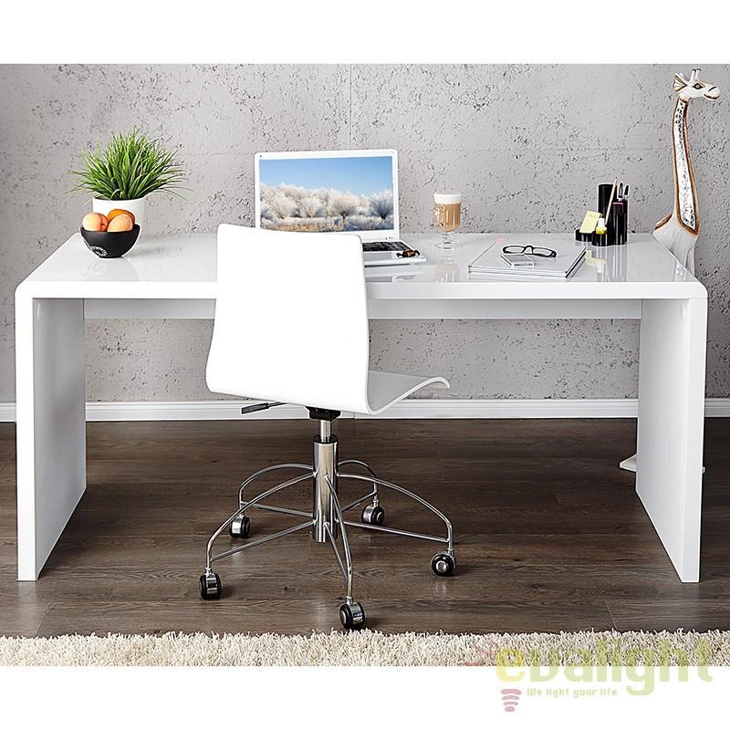 Birou modern alb, simplu si elegant, Fast Trade 120cm A-15806 VC, Console - Birouri, Corpuri de iluminat, lustre, aplice a