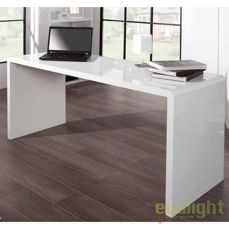 Birou modern alb, simplu si elegant, Fast Trade 160cm A-36025 VC, Console - Birouri, Corpuri de iluminat, lustre, aplice a