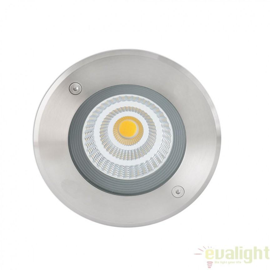 SPOT LED INCASTRABIL DE EXTERIOR SURIA-3 INOX 70592N Faro Barcelona , Iluminat exterior incastrabil , Corpuri de iluminat, lustre, aplice a