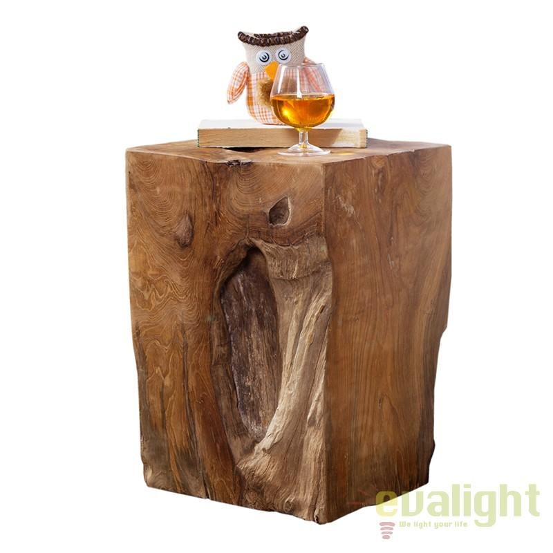 Taburete decorativ din lemn masiv de tec A-21292 VC, PROMOTII, Corpuri de iluminat, lustre, aplice, veioze, lampadare, plafoniere. Mobilier si decoratiuni, oglinzi, scaune, fotolii. Oferte speciale iluminat interior si exterior. Livram in toata tara.  a