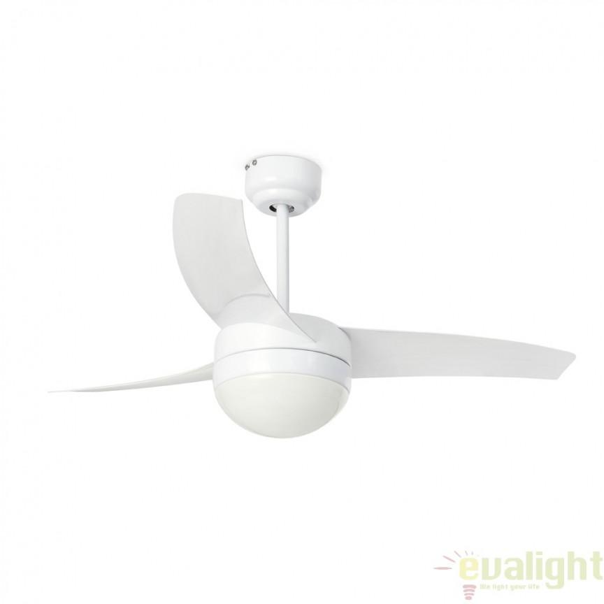 Lustra cu ventilator si telecomanda cu programator Easy alb 33415 Faro Barcelona, Rezultate cautare, Corpuri de iluminat, lustre, aplice a