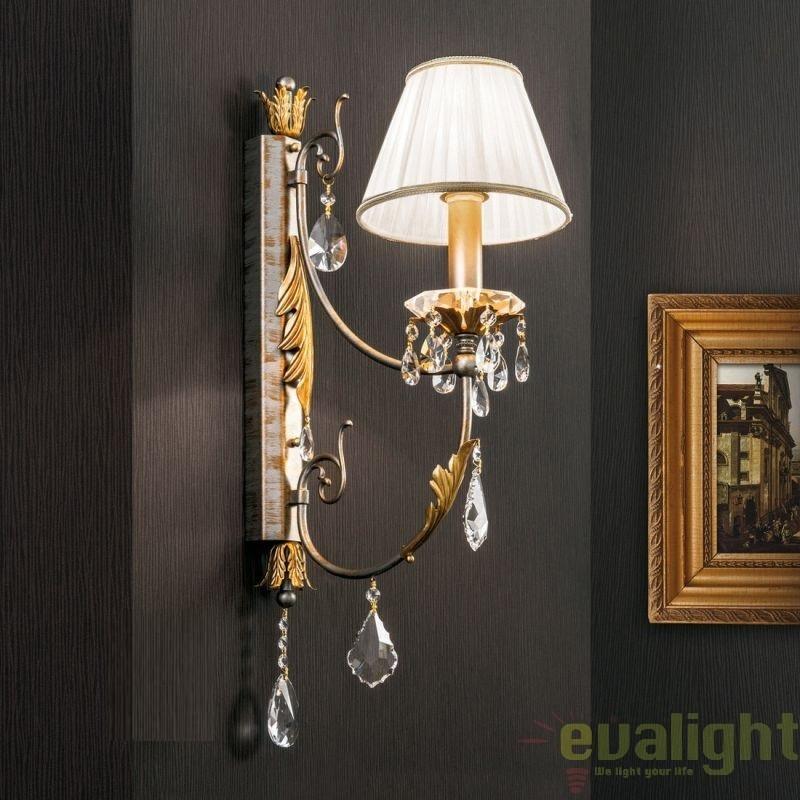 Aplica de perete LUX super eleganta cu 1 brat Miramare WA 2-1301/1 OR silver-goldOR,  a