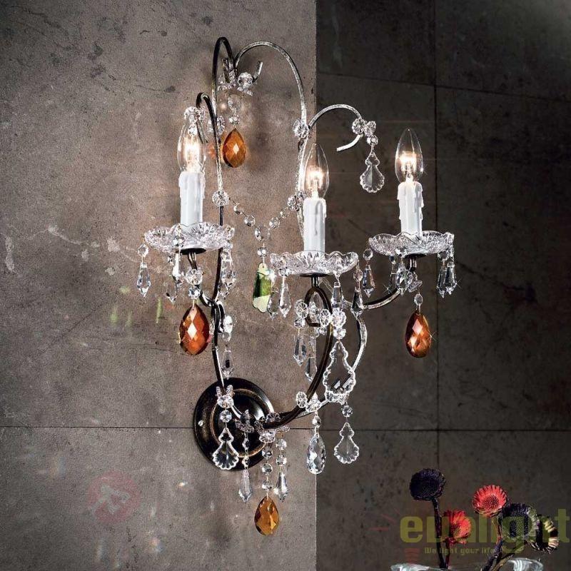 Aplica de perete LUX super eleganta cristal cu 3 brate Verona antik-gold WA 2-1097/3 OR, PROMOTII,  a