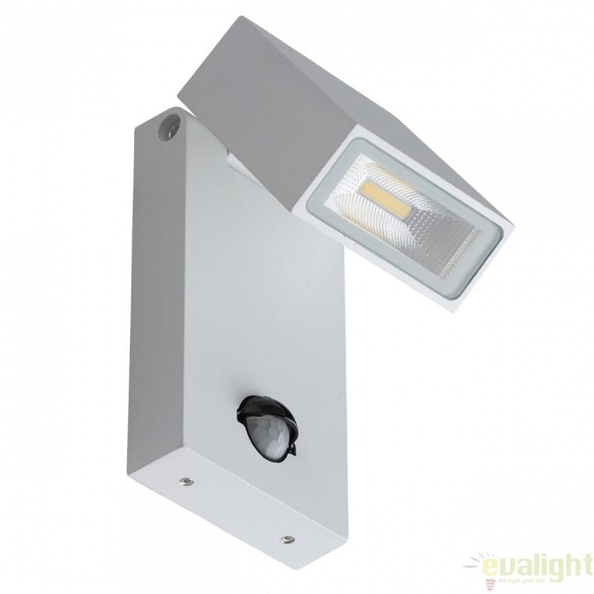 Aplica de perete LED pentru exterior cu spot directionabil si senzor IP65 MERCURY 807021601, Iluminat cu senzor de miscare, Corpuri de iluminat, lustre, aplice, veioze, lampadare, plafoniere. Mobilier si decoratiuni, oglinzi, scaune, fotolii. Oferte speciale iluminat interior si exterior. Livram in toata tara.  a