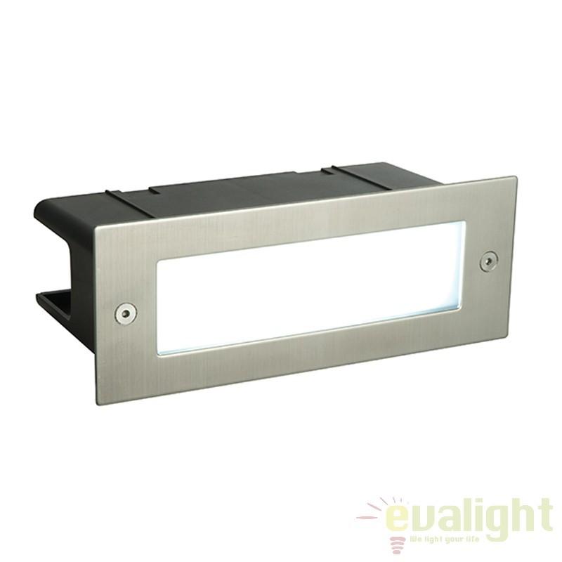 Aplica incastrabila cu iluminat LED ambientala Seina plain gri 52104 EN, Spoturi incastrate, aplicate - tavan / perete, Corpuri de iluminat, lustre, aplice a